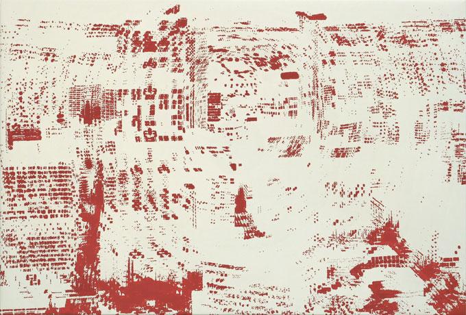 """Birgit Jensen, """"CCK II"""", 2005, Acryl auf Leinwand, 95 cm x 140 cm"""