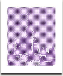 "Birgit Jensen, ""DOTS SOPT I"", Acryl/Leinwand, 2009, 62 cm x 52 cm"