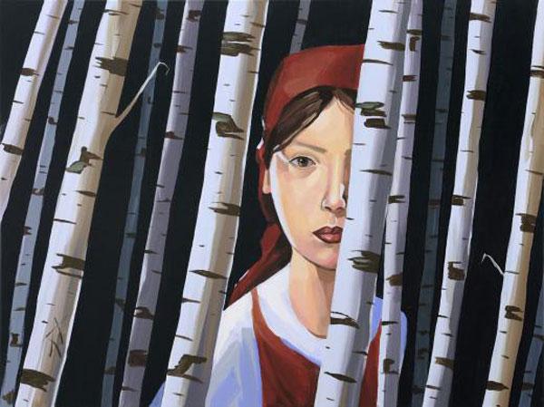 """Christopher Winter, """"Deep Forest"""", 2009, Acryl, Leinwand, 75 cm x 100 cm"""