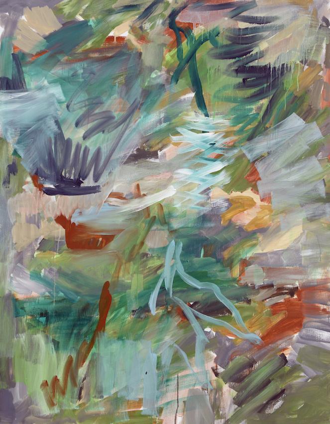 Jan Holthoff, No. 173, 2016, Pigment, Acryl auf Leinwand, 190 x 150 cm