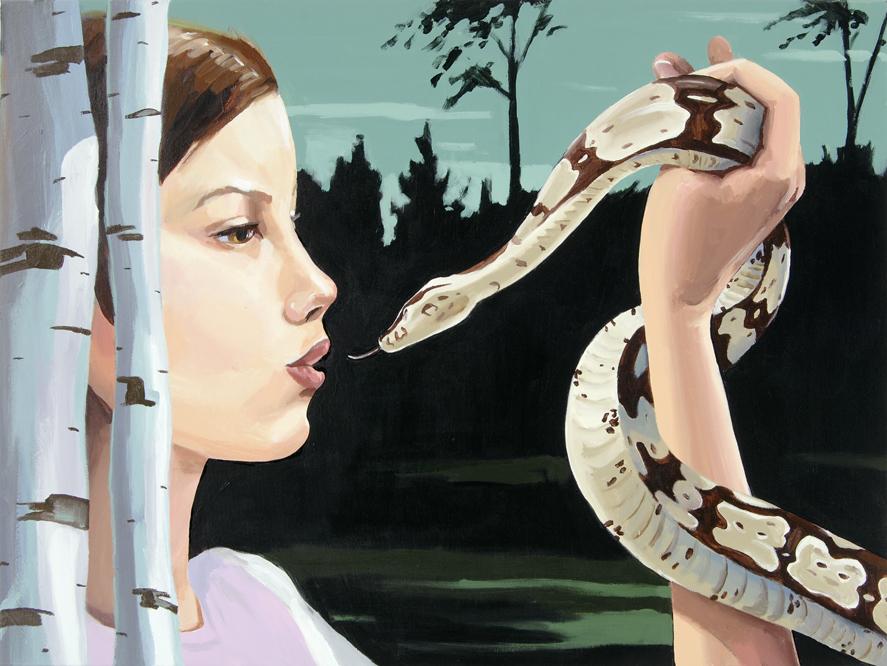 Christopher Winter, Loving Monsters II, 2009, Acryl/Leinwand, 75 x100 cm