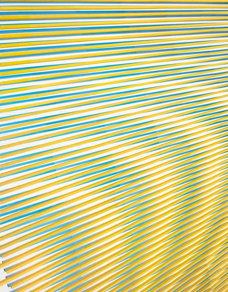 Andreas Zimmermann, Moirée 3, 2015, c-print/Dibond in grauer Schattenfuge, 133 x 103 cm, Auflage 5+2 AP
