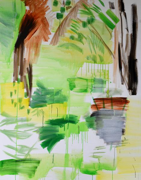 Jan Holthoff: No. 11, 2013, Pigment, Acryl/Leinen, 190 cm x 150 cm