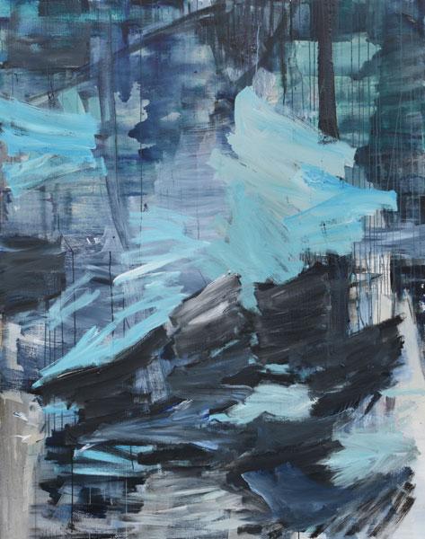 Jan Holthoff: No. 33, 2013, Acryl, Pigment/Leinwand, 190 cm x 150 cm