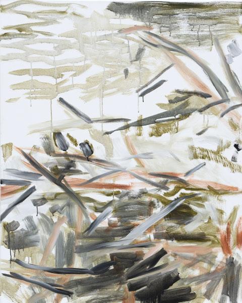 Jan Holthoff: No. 43, 2013, Pigment, Acryl/Leinwand, 100 cm x 80 cm