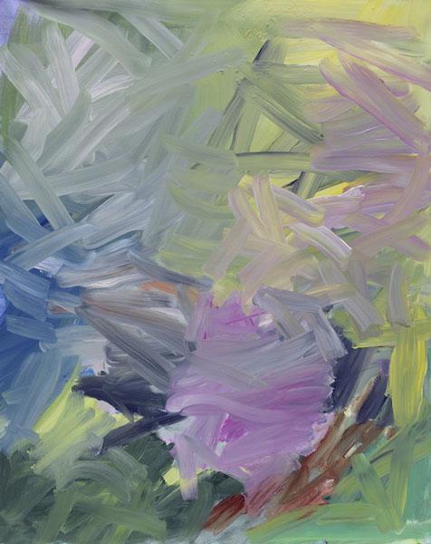 Jan Holthoff: No. 83, 2014, Acryl, Pigment auf Leinwand, 100 cm x 80 cm