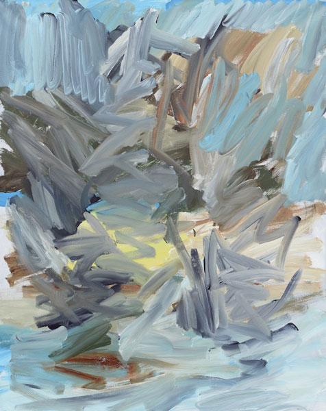 Jan Holthoff: No. 88, 2014, Acryl, Pigment auf Leinwand, 100 cm x 80 cm