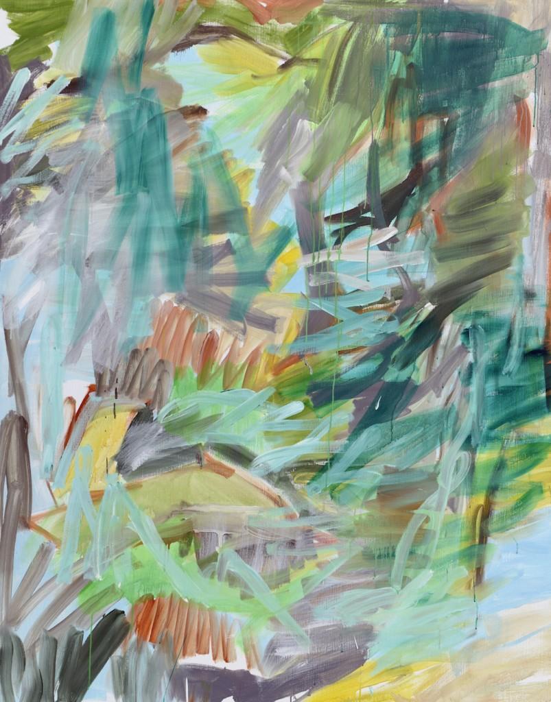 Jan Holthoff, Nr. 172, 2016, Pigment, Acryl/Leinwand, 190 x 150 cm