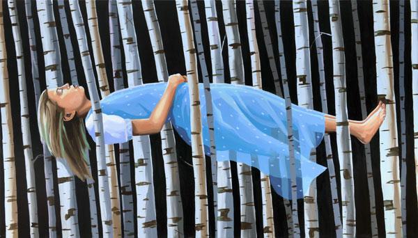 "Christopher Winter, ""Spaceshifter"", 2011, Acryl-Leinwand, 130 cm x 230 cm"
