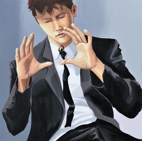 "Christopher Winter, ""Trickster"", Acryl/Leinwand, 2011, 110 cm x 110 cm"