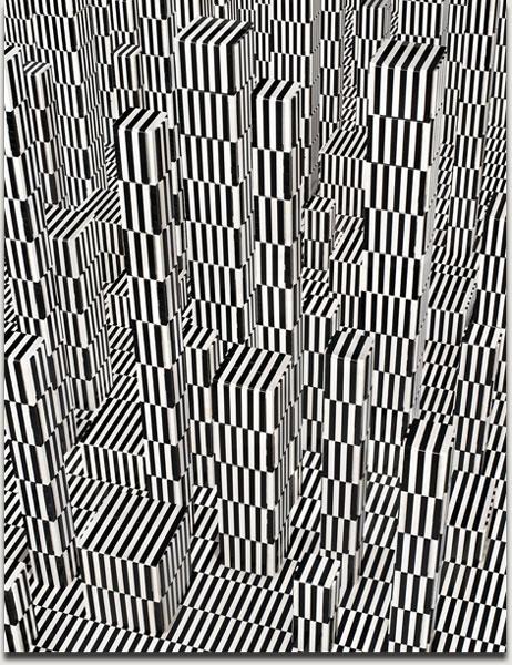 """Andreas Zimmermann, """"bars"""", Lightjet auf Alu Dibond in grauer Schattenfuge, 2010, 133 cm x 103 cm. Auflage 5+2AP"""