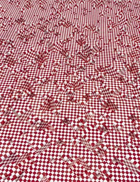 """Andreas Zimmermann, """"Plaid"""", c-print auf Aludibond in grauer Schattenfuge, 2012, 166 cm x 128 cm, Auflage 5+2AP"""