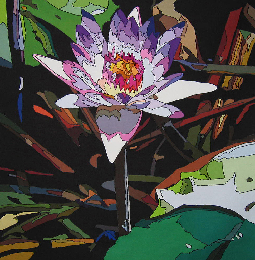 Rowena Dring, Waterlilies edition #2, 70 x 73 cm