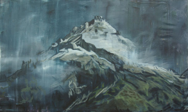 """Jan Holthoff, """"Edge of Time"""", 2011, acrylic, pigment on canvas, 180 x 300 cm"""
