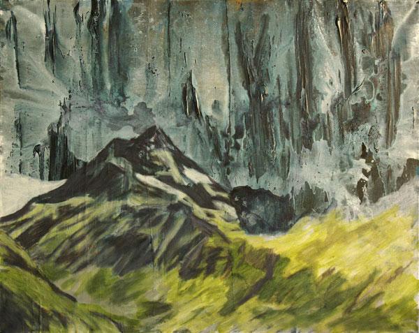"Jan Holthoff, ""Frozen Clouds"", 2010, acrylic, pigment on canvas, 80 x 100 cm"