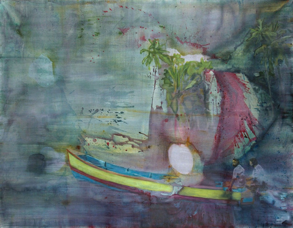 Jan Holthoff, No Return, 2012, acrylic, pigment on canvas, 150 x 190 cm