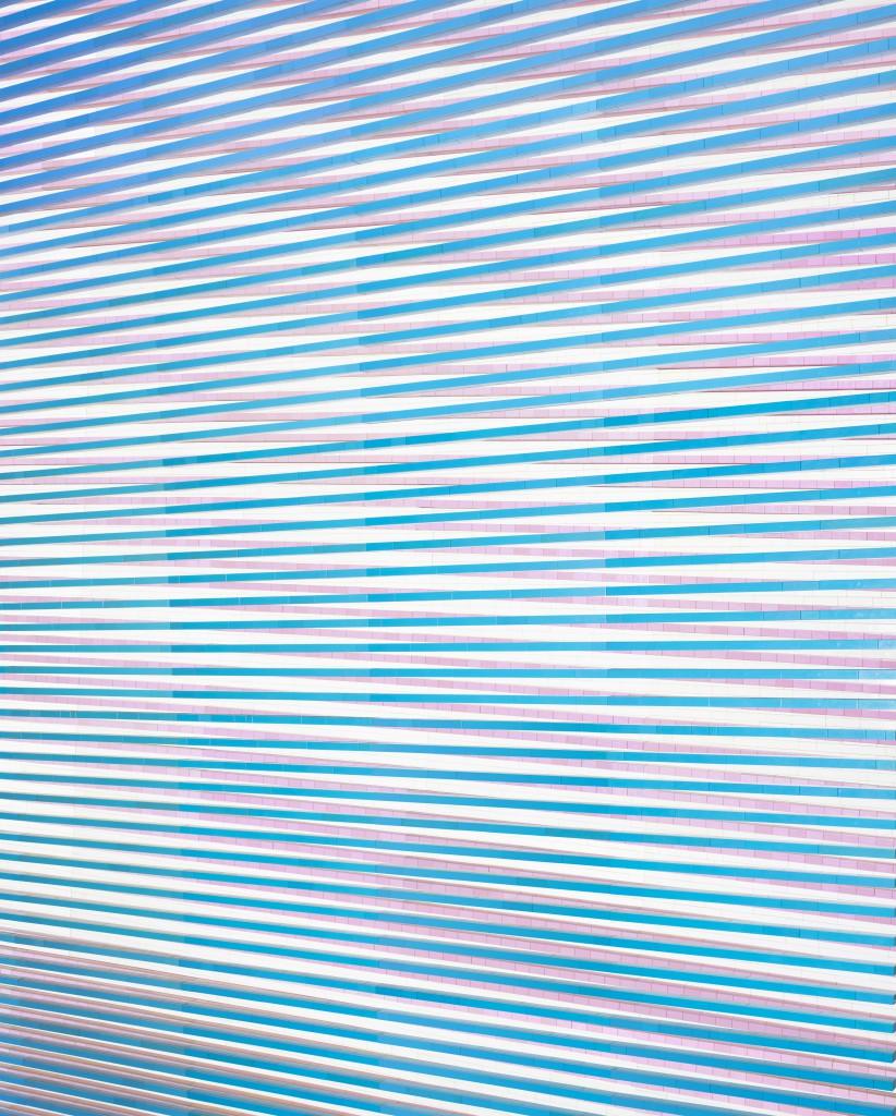Andreas Zimmermann, Moirée 1, 2015, c-print/dibond in a grey artist's frame, 133 x 103 cm, edition of 5+2 AP
