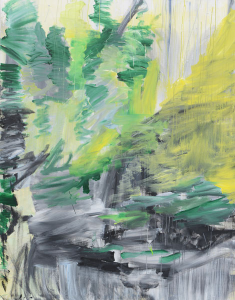 Jan Holthoff: No. 32, 2013, Pigment, Acryl/Leinwand, 190 cm x 150 cm