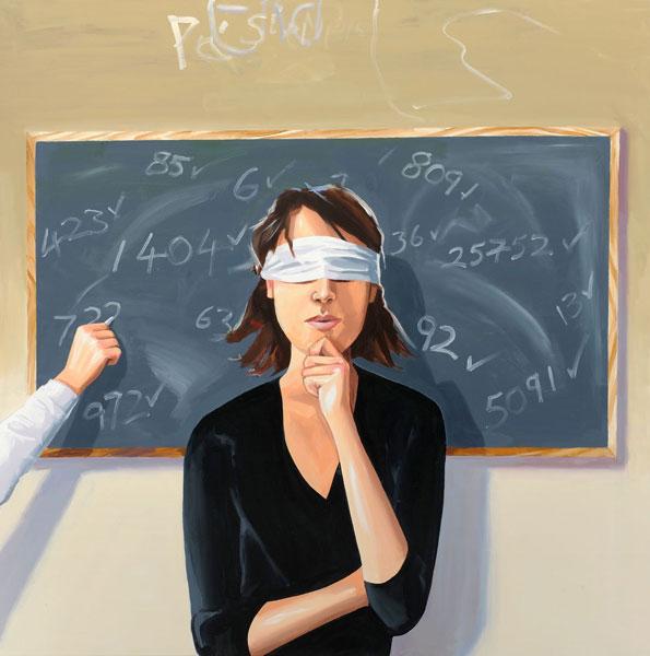 "Christopher Winter, ""Weird Science"", acrylic on canvas, 140 cm x 140 cm"