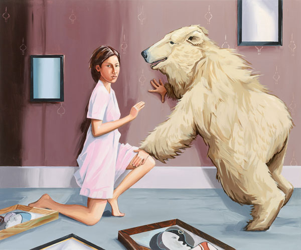 "Christopher Winter, ""Analytical Realism (and the Cubist Bear)"", 2013,acrylic on canvas, 150 cm x 180 cm"