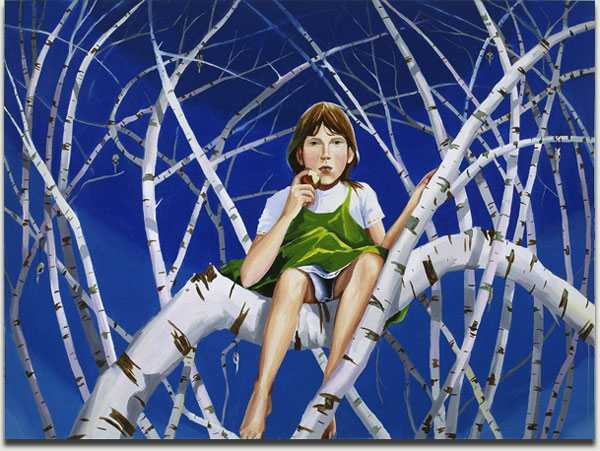 "Christopher Winter, ""Bone Trees"", acrylic on canvas, 2008, 200 cm x 270 cm"